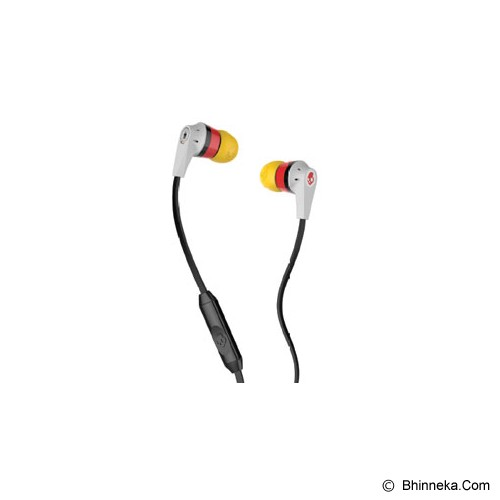 SKULLCANDY INK'D Germany World Cup With Mic 1 + Remote [SGIKGY-156] - Earphone Ear Monitor / Iem